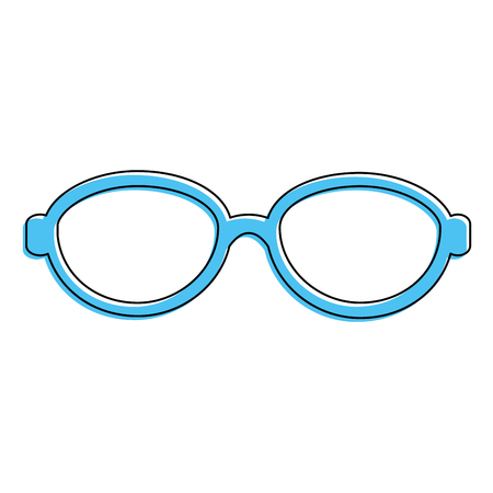 Blue glasses accessory icon.