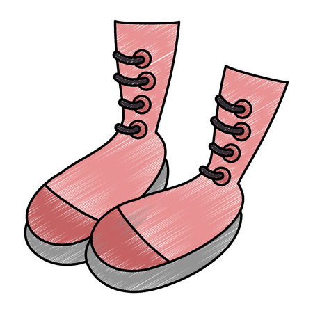 boots icon over white background vector illustration Imagens - 84219590