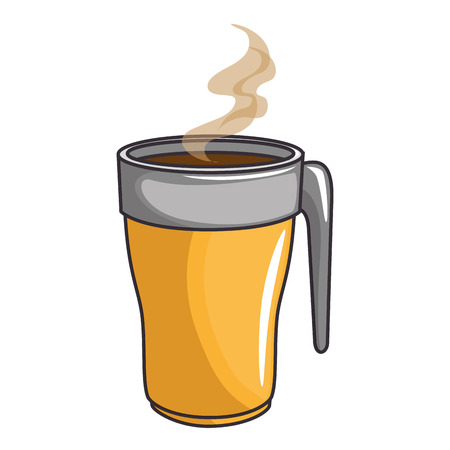 coffee drink icon over white background colorful design vector illustration