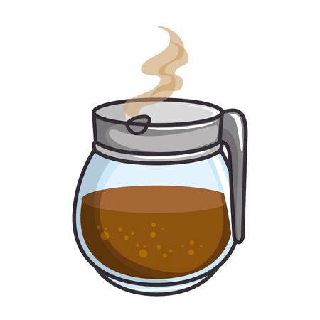 koffiepot pictogram over witte achtergrond vectorillustratie Stock Illustratie