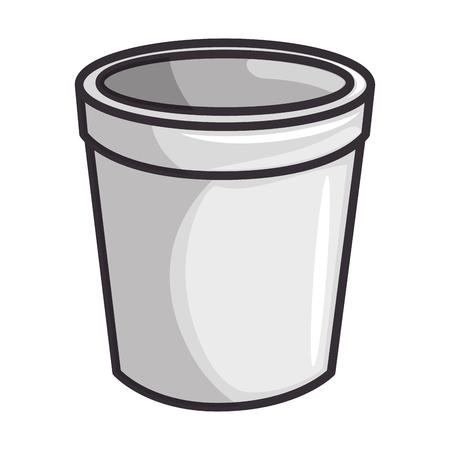 Koffiekopje pictogram over witte achtergrond vectorillustratie Stock Illustratie