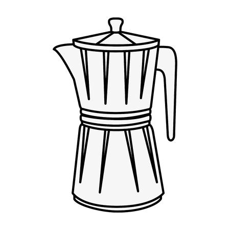 Italiaanse koffiezetapparaat pictogram op witte achtergrond vectorillustratie