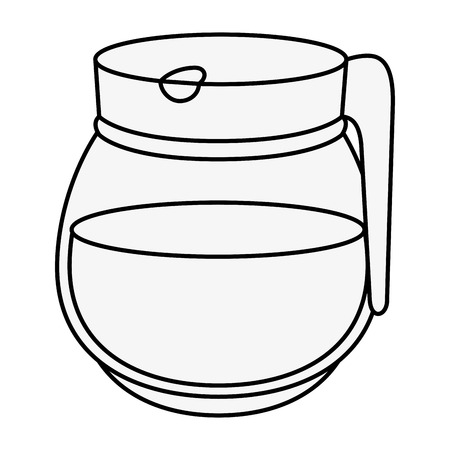 Coffee pot icon over white background vector illustration Illustration