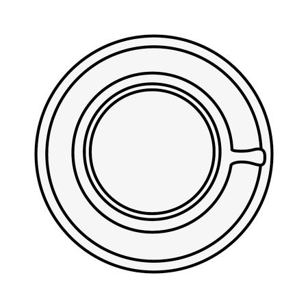 Coffee mug icon over white background vector illustration 向量圖像