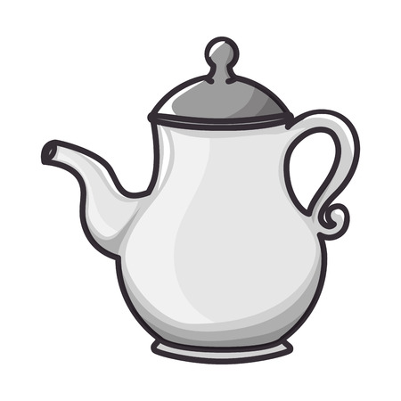 A coffee pot icon over white background vector illustration. Illustration