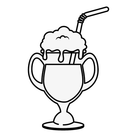 A coffee drink icon over white background vector illustration.