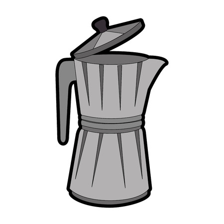 Italian coffee maker icon over white background vector illustration Illusztráció
