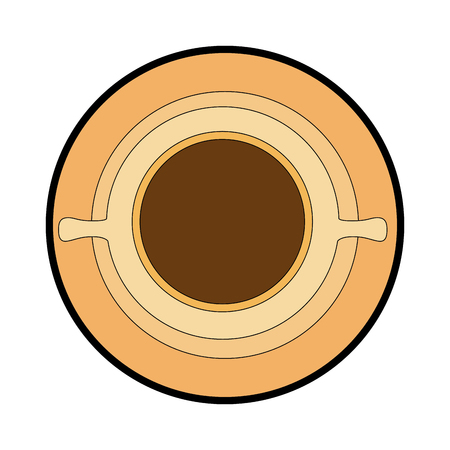 coffee mug icon over white background vector illustration Stock Vector - 84231145