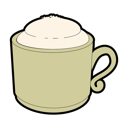coffee mug icon over white background vector illustration 版權商用圖片 - 84231146