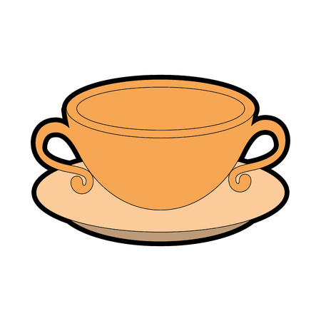 coffee mug icon over white background vector illustration Иллюстрация