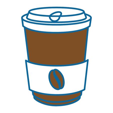 koffiekopje pictogram over witte achtergrond vectorillustratie