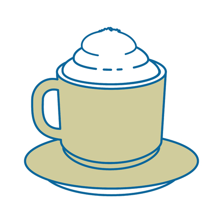 coffee mug icon over white background vector illustration Illusztráció