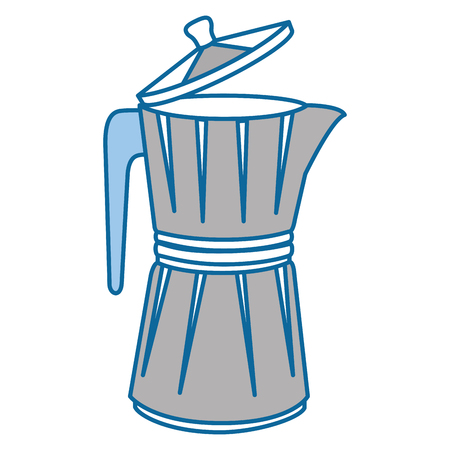 italian coffee maker icon over white background vector illustration 向量圖像