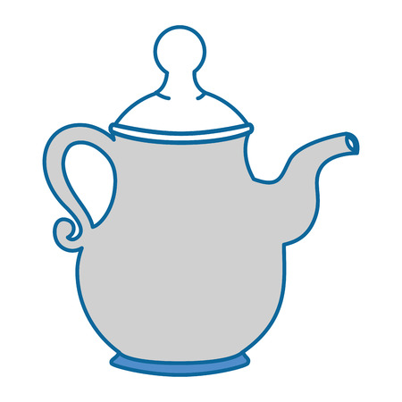 coffee pot icon over white background vector illustration