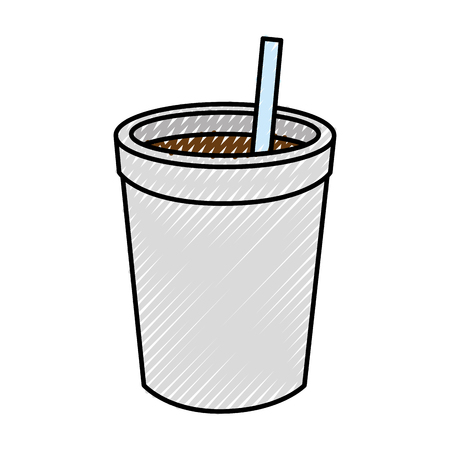 Coffee cup icon over white background vector illustration Illusztráció