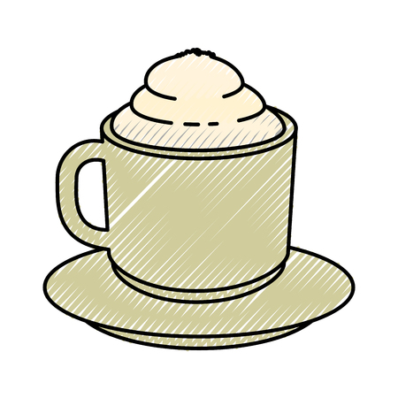Coffee mug icon over white background vector illustration Illusztráció