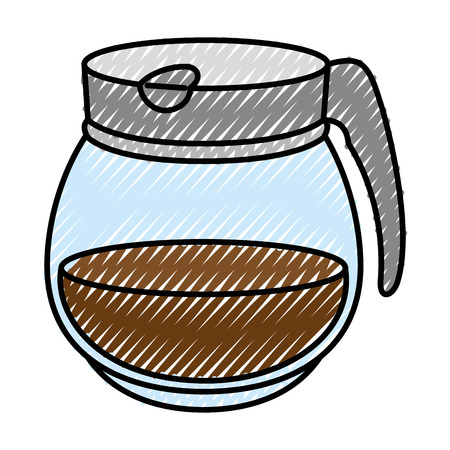 Coffee pot icon over white background vector illustration 向量圖像