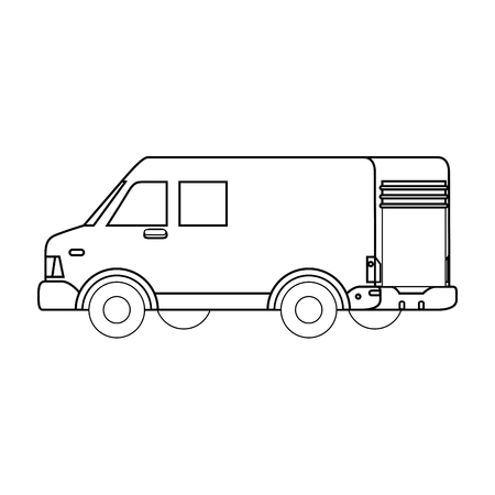 cargo truck icon over white background vector illustration