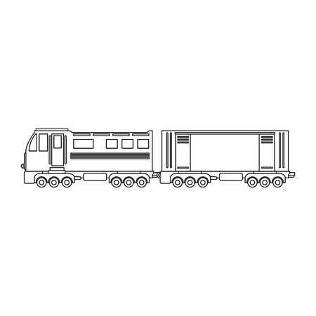 automotive industry: train icon over white background vector illustration Illustration
