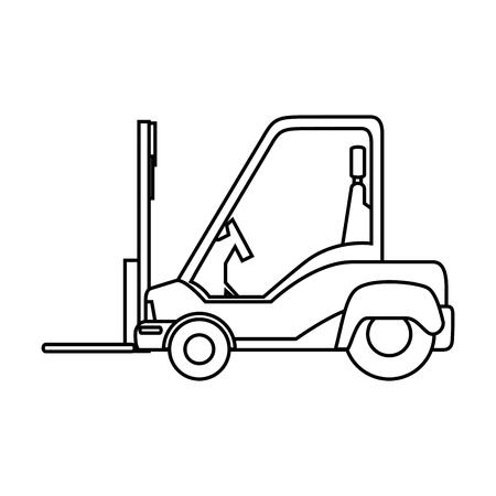 forklift truck icon over white background vector illustration