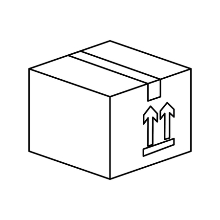 carton box icon over white background vector illustration