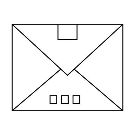 envelope icon over white background vector illustration