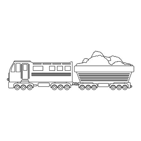 train icon over white background vector illustration Stock Vector - 84219155