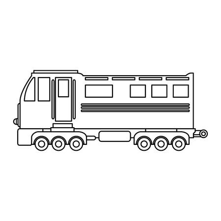 白い背景のベクトル図を鉄道アイコン
