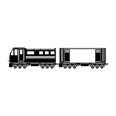 train icon over white background vector illustration Illustration
