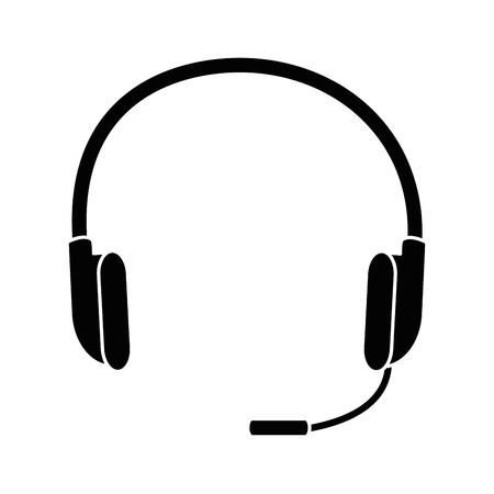 白い背景のベクトル図にヘッドセットのアイコン  イラスト・ベクター素材