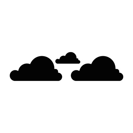 Cloud icon over white background vector illustration Stock Vector - 84217424