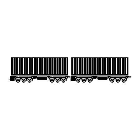 Cargo wagons icon over white background vector illustration Ilustrace