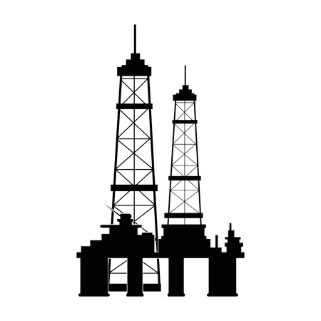 Industrial building icon over white background vector illustration