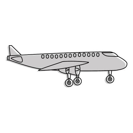 흰색 배경 벡터 일러스트 레이 션을 통해 비행기 아이콘