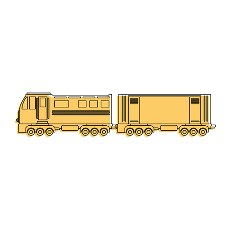 train icon over white background vector illustration Stock Vector - 84230973