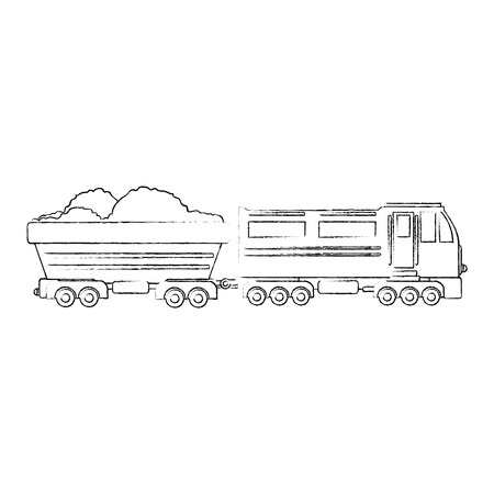train icon over white background vector illustration Stock Vector - 84230943