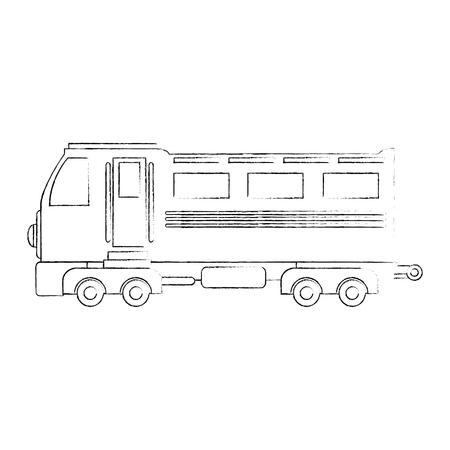 train icon over white background vector illustration Stock Vector - 84230942