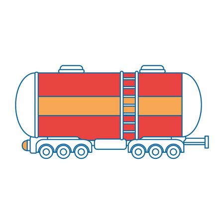 Icono de tanque de carga sobre fondo blanco ilustración vectorial Foto de archivo - 84230950