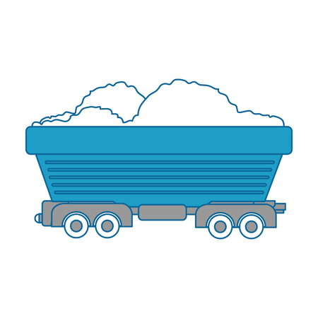 Wagon loaded icon over white background vector illustration