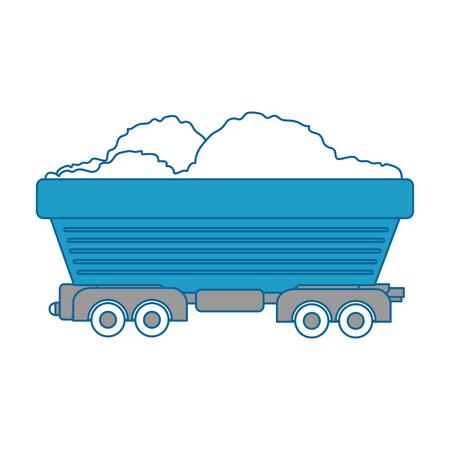 Wagon geladen pictogram over witte achtergrond vector illustratie Stock Illustratie