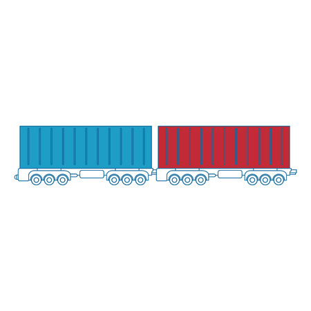 freight train: Wagons icon over white background vector illustration
