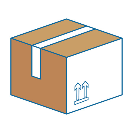Carton box icon over white background vector illustration Ilustracja