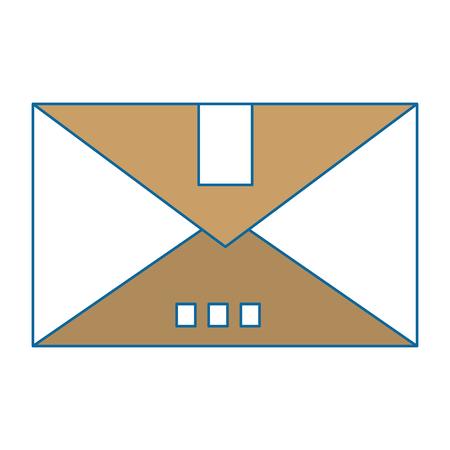 Carton box icon over white background vector illustration 向量圖像