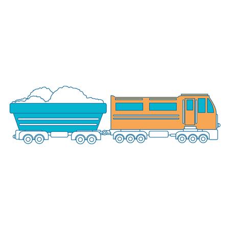 train icon over white background vector illustration Stock Vector - 84230908