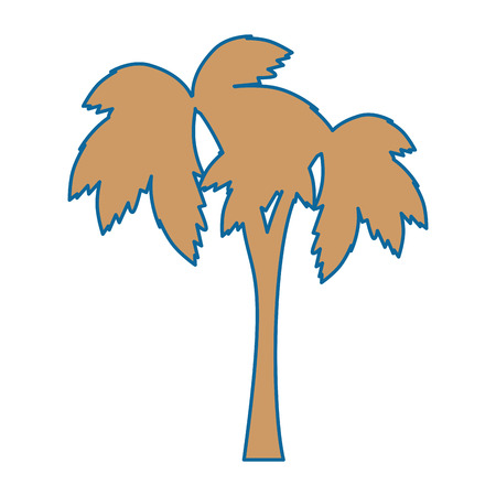 tropical palm icon over white background vector illustration Иллюстрация