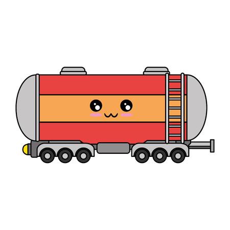 Icono de tanque de carga sobre ilustración de vector de fondo blanco Foto de archivo - 84220407