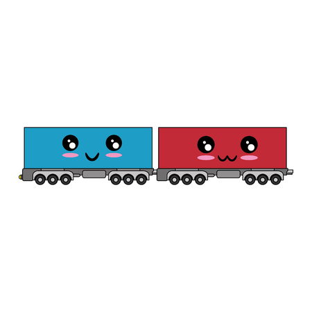 wagons icon over white background vector illustration