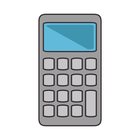calculator icon over white background vector illustration