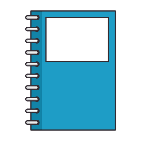 notebook icon over white background vector illustration