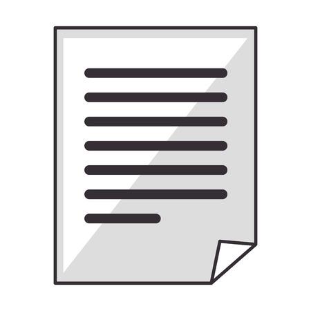 Datei Dokument Symbol über weißem Hintergrund Vektor-Illustration Standard-Bild - 84220351